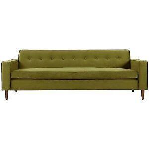 Kardiel Eleanor Mid-Century Modern Classic Sofa, Velvet Plush