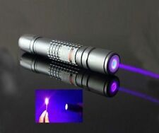 Professional Blue Purple Laser Pen Pointer Burning Light Beam Battery Charger UK