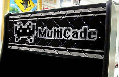(STICKER) DIAPLATE Arcade JAMMA Multicade multi game Marquee (ANY SIZE) SendSIZE