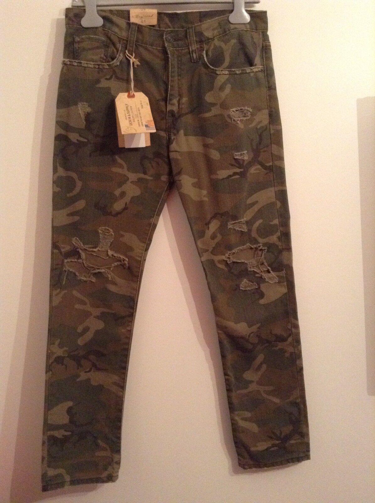BNWT 100% auth Ralph Lauren, Ladies Elzey Straight Mgold Jeans. 26 RRP