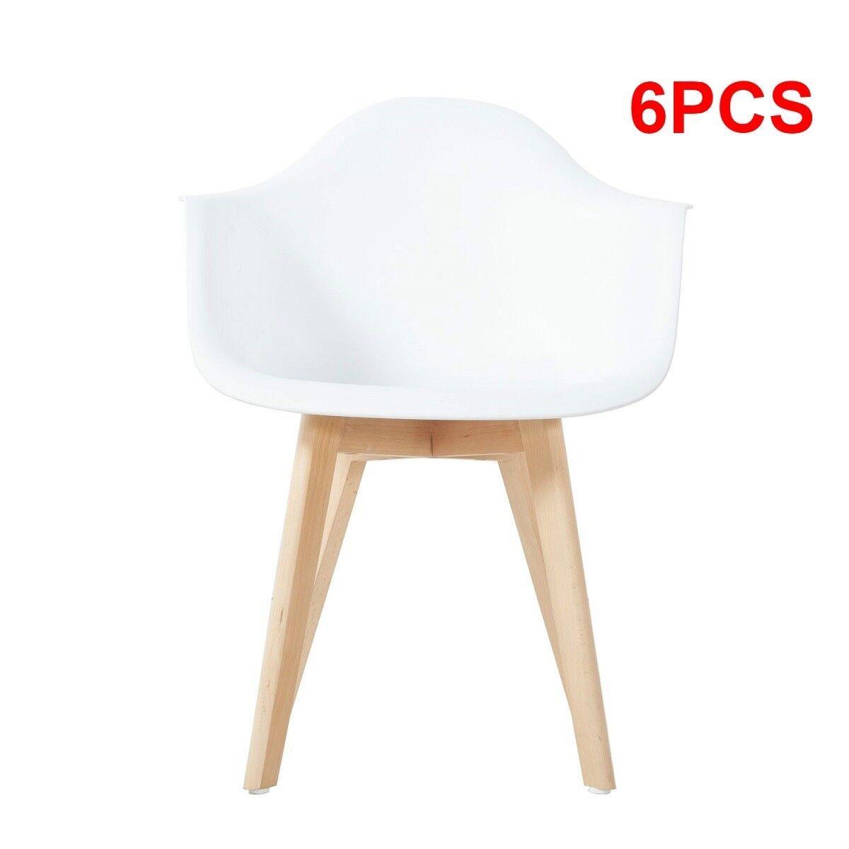 2/4/6 SEDIE CUCINA sedia ufficio sedia legno Bianche Scandinavo ...