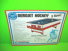 US Billiards AEROJET HOCKEY Vintage Original Air Hockey Table Promo Sales Flyer