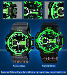 Casual-OHSEN-6-Color-Large-Face-LCD-Dual-Display-Army-Sport-Quartz-Wrist-Watch