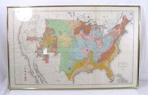 Framed Map Of United States on