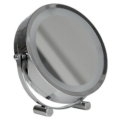 Double Sided Cosmetic Countertop Handheld Mirror With Led