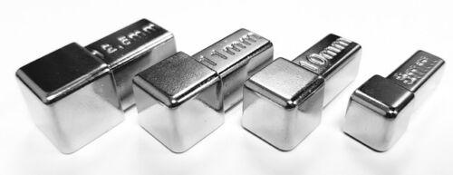 Eckstück Quadro imitant surface en acier inoxydable optique Brillant 8-10-11-12,5 mm