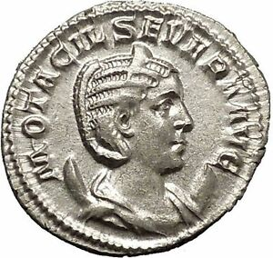 Otacilia-Severa-244AD-Silver-Ancient-Roman-Hera-JUNO-wife-of-Jupiter-i52282