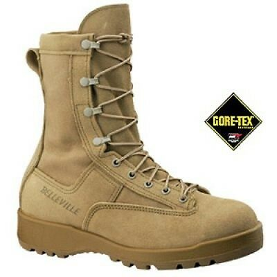 Liberale Us Army Belleville 790st Waterproof Goretex Tan Combat Flight Boot Stivali 11.5r-mostra Il Titolo Originale