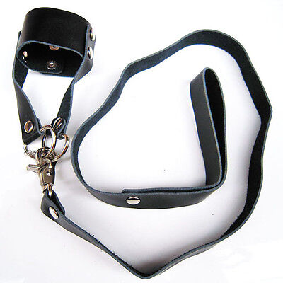 Leather Penis Ring and Lead Erection Enhancer Impotence Aid