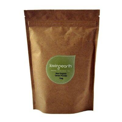 Loving Earth Raw Organic Cacao Powder 1kg