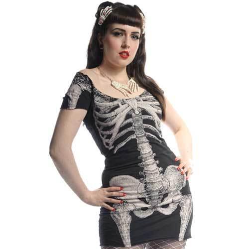 Kreepsville 666 Skeleton Dress Kreepsville 666 Dress Skull Dress Horror Dress