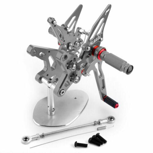 Adjustable Tita Rearset Foot Pegs Rest Pedal For Kawasaki ZXR 400 Ninja 2018