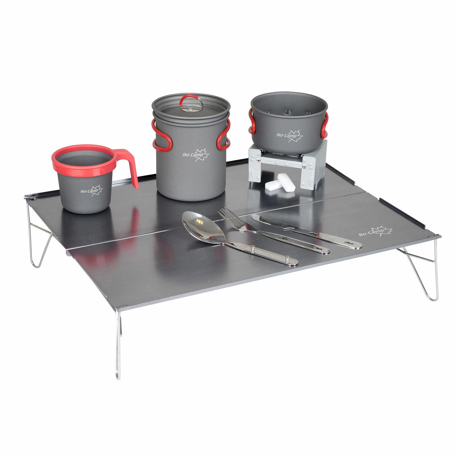 BO-CAMP Alu Campingtisch Mini Falttisch Beistelltisch Küche leicht bivvy faltbar