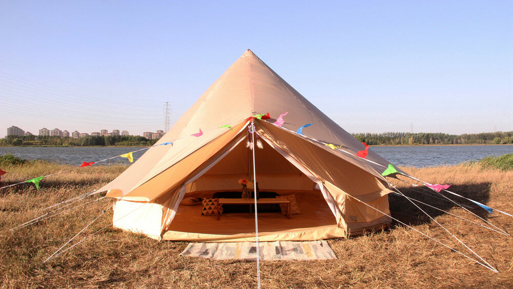 Tent Awning For 5M Waterproof Outdoor Bell Glamping Canvas Tent Cover