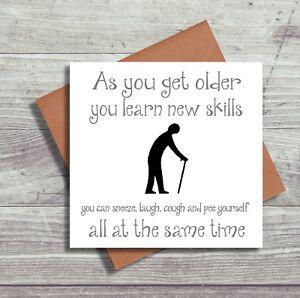 Image Is Loading Funny Birthday Card Old Age Dad Mum Grandad