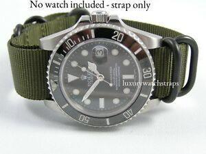 Details About Green Dense Weave Ballistic Nato Strap For Hamilton Watches 18 20 22 24mm
