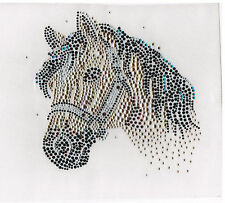 Rhinestone iron on transfer DIY hot fix applique golden horse Craft decoration