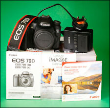 Canon EOS 70D DSLR Camera Sold with Battery Charger,  Manual & Box Only 3,935