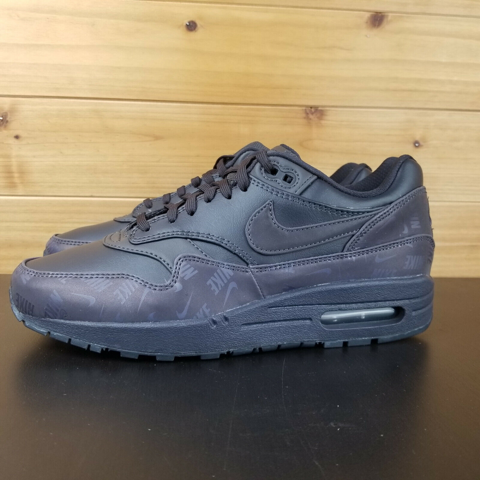 Nike Air Max 1 LX LUX Logo Print Women's shoes shoes shoes Oil Grey 917691-001 AM87 AM1 2ab517
