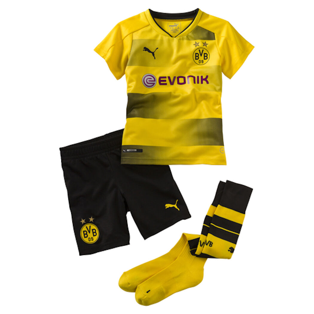 Puma BVB Borussia Dortmund Home Mini Mini Home Kit Trikot Hose 2017/2018 4bff34