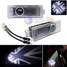 2x Union Jack Door Courtesy Laser Shadow Lights for Mini R55 R56 R57 R58 R59 R60