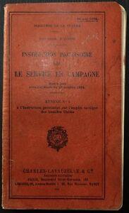 Vente Pas Cher Instruction Provisoire Sur Le Service En Campagne / 1925 éLéGant Dans Le Style