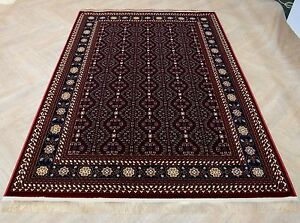 red persian silk carpet turkmen design soft afghan rug runner