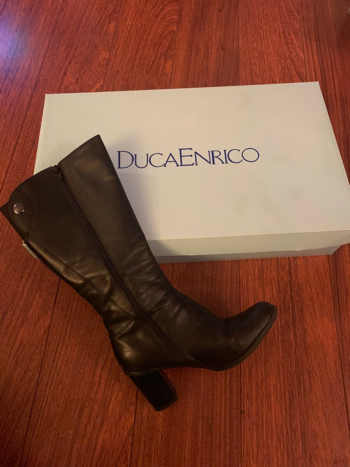 Enrico leather boots, size 4, excellent condition, RRP