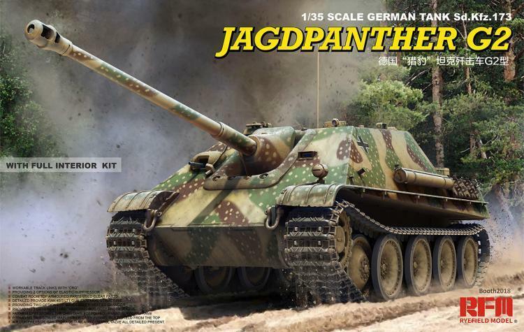 Ryefield 1 35 RM5022 German Sd.Kfz.173 Jagdpanther G2 w Full Interior Tank Model