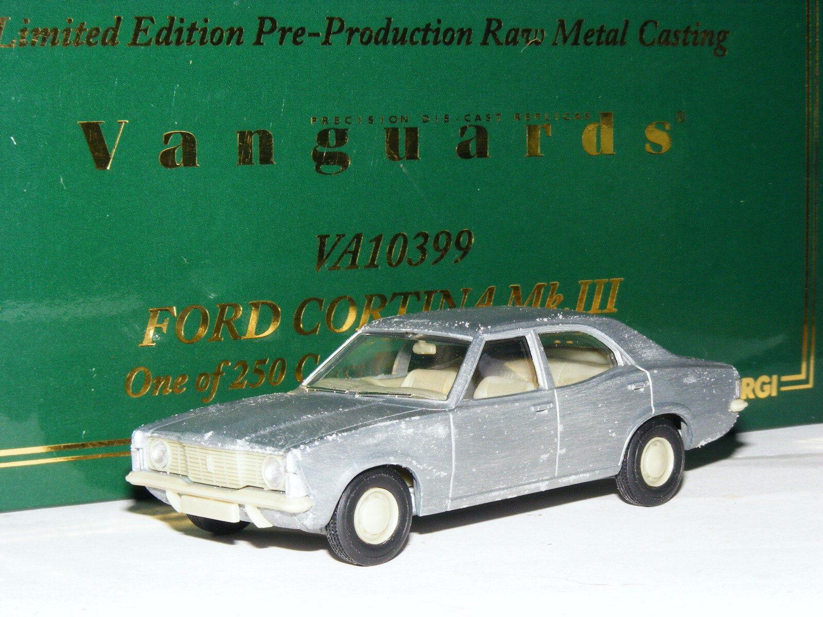 Vanguards VA10399  Ford Cortina MkIII Pre-Production Raw Metal Cast LTD ED 1 43  nous prenons les clients comme notre dieu