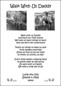 A4 Personalised Daddy birthday Christmas gift Fathers day Dad Verse // Poem