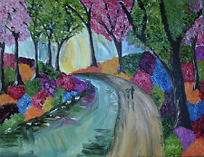 "Colourful Woods  Original  Oil painting on canvas board 14"" x 18"""