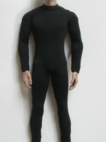 """1:6th Scale Black Jumpsuit Clothes For 12/"""" Male Figure Action Figure Body Doll"""