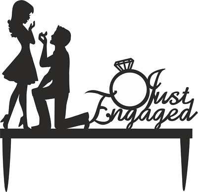 Engagement Fiance /& Fiancee Cake Toppers 10cm