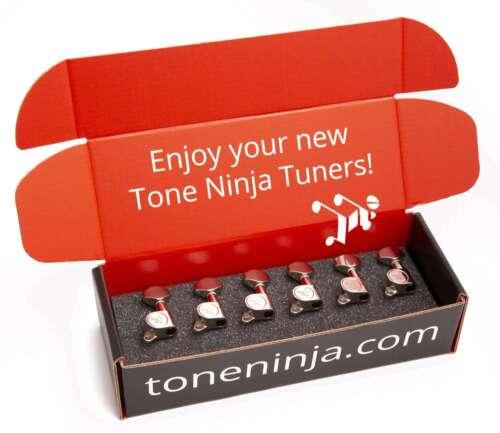 Genuine Tone Ninja Tuners Left Handed Nickel 6 Inline non-staggered