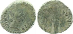 Quadrans, AE 18 14-37 N. Chr. España Tiberius 47515