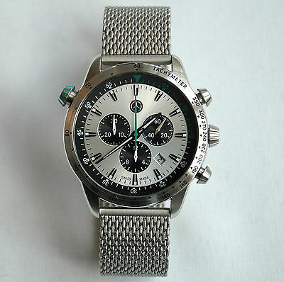 Mercedes Benz Motorsport AMG Petronas Racing Design Swiss Made Chronograph Watch