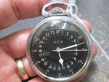 WWII MILITARY HAMILTON 22J 4992B movement MENS FANCY CASE RUNNING Pocket Watch