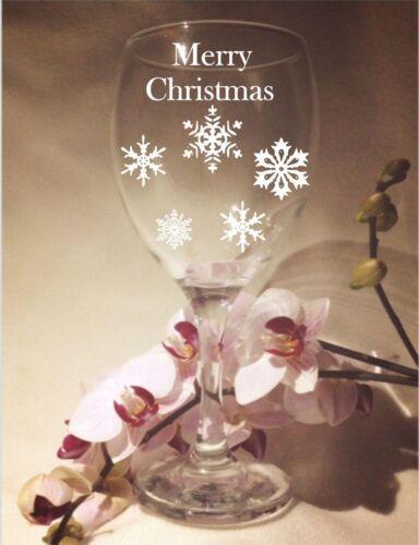 PERSONALISED ENGRAVED CHRISTMAS DESIGN WINE GLASS  BUY 1 GET 1 HALF PRICE