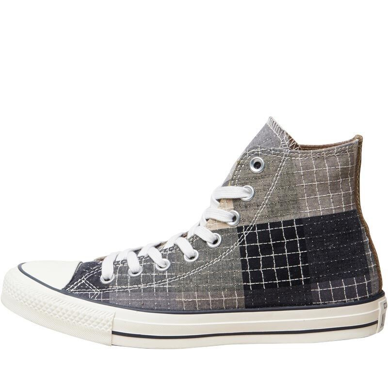 CONVERSE femmes  CT ALL STAR HI PATCHWORK TRAINERS - GREY/ noir  - SIZE 3 - BNIB