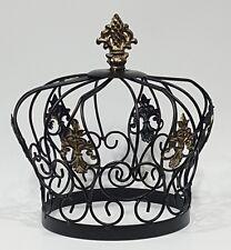 Crown Statue Shelf Table Top Fleur de Lis King Queen Prince Princess Metal Decor