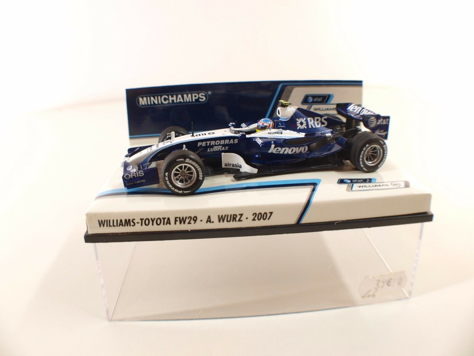 Minichamps Williams Toyota FW29 FW29 FW29 A.Wurz 2007 1/43 neuf boxed/en boite MIB | De Nouveaux Produits 2019  0cf2b3
