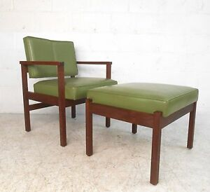 Strange Details About Mid Century Modern Armchair With Ottoman 2177 Nj Ocoug Best Dining Table And Chair Ideas Images Ocougorg