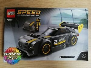 LEGO-INSTRUCTIONS-BOOKLET-ONLY-Mercedes-AMG-GT3-Speed-Champions-75877