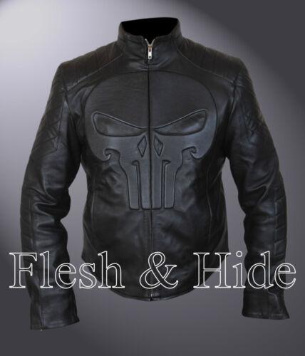 Punisher Padded Embossed Skull Emblem Jacket