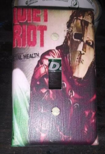 "Custom Handmade Quiet Riot /""Metal Health/"" Single Toggle Light Switch Cover"