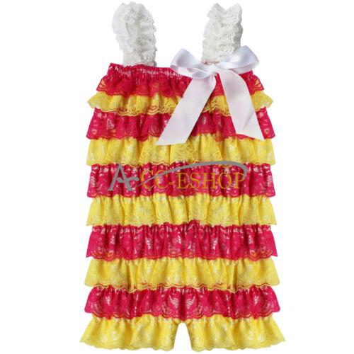 3D Rose Flower Girl Princess Dress Baby Party Wedding Christening Formal Dresses