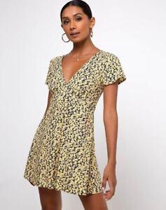 MOTEL-ROCKS-Elara-Tea-Dress-in-Mini-Bloom-Yellow-S-Small-MR97