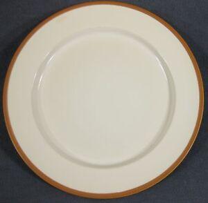 Williams-Sonoma-RANCH-Dinner-Plates-White-with-Terra-Cotta-Rim