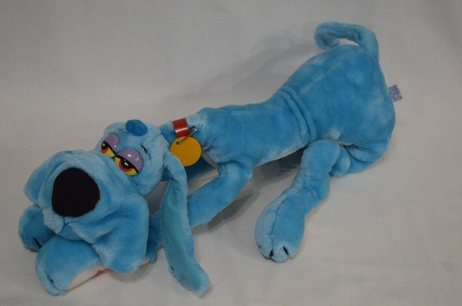 Vintage 1984 Dakin 20  Plush FOOFUR Cartoon Dog Blau Stuffed Animal Toy Mendez